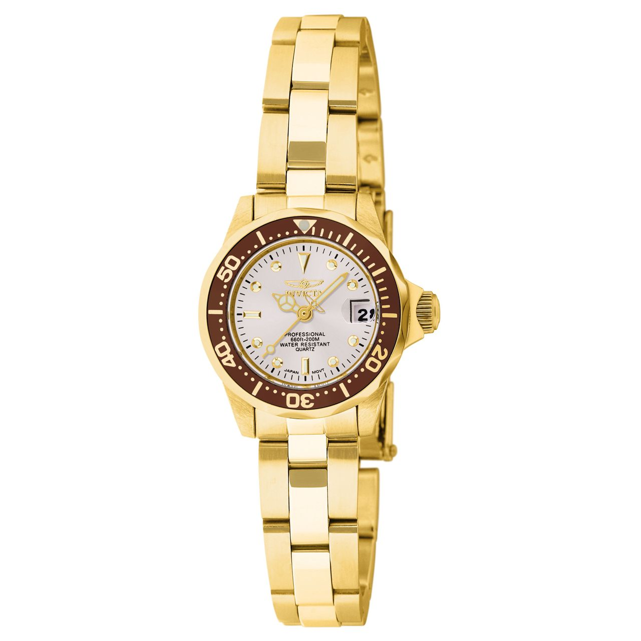 invicta pro diver 11444 womens white quartz
