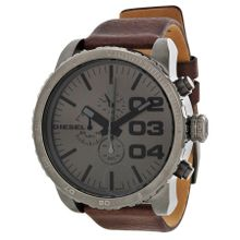 Diesel Advanced DZ4210 Mens Grey Dial Analog Quartz Watch with Leather Strap