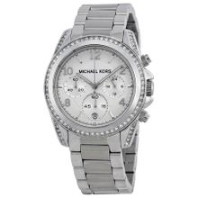Michael Kors MK5165 Women's SS Chronograph Silver Dial Crystal Watch