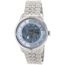 Fossil ME3073 Mens Silver Dial Analog Automatic with Stainless Steel Strap Watch