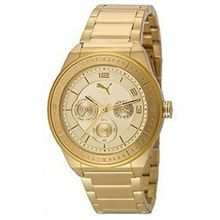 Puma PU102912001 Womens Gold Dial Analog Quartz Watch