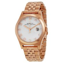 Marc Jacobs MBM3392 Womens White Dial Analog Quartz Watch