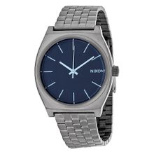 Nixon A0451427 Mens Blue Dial Analog Quartz Watch with Stainless Steel Strap