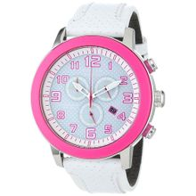 Citizen AT2230-03A Womens Chronograph White Dial with Leather Strap Watch