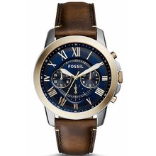 Fossil FS5150 Mens Grant Chronograph Blue Dial Watch