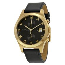 Marc Jacobs MBM1398 Womens Black Dial Analog Quartz Watch with Leather Strap