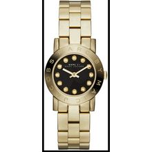 Women's Gold-Tone Marc Jacobs Amy Mini Glitz Watch MBM3336