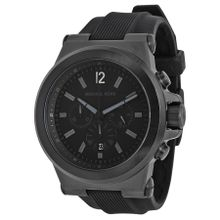 Michael Kors MK8152 Mens Black Dial Analog Quartz Silicone Strap Watch