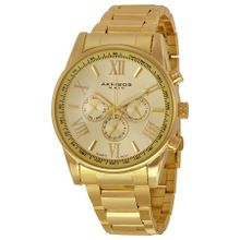 Akribos XXIV AK736YG Men's Ultimate Swiss Multifunction Gold-tone Stainless Steel Bracelet Watch