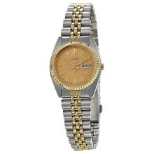 Seiko SWZ056 Womens Gold Dial Analog Quartz Watch with Stainless Steel Strap