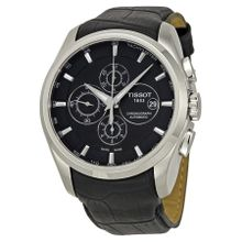 Tissot T0356271605100 Mens Black Dial with Black Alligator Leather Analog Automatic Watch