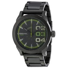 Diesel DZ1678 Mens Black Dial Analog Quartz Watch with Stainless Steel Strap
