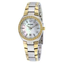 Fossil AM4183 Womens Mop Dial Analog Quartz Stainless Steel Watch