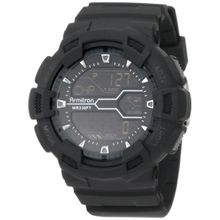 Armitron 40/8246MBLK Mens Black Dial Digital Quartz with Resin Strap Watch