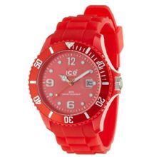 Ice Watch SI.RD.B.S.09 Mens Red Dial Analog Quartz Watch with Silicone Strap