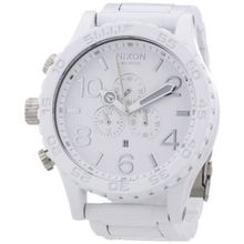 Nixon A0831255-00 Mens White Dial Quartz Watch with Stainless Steel Strap