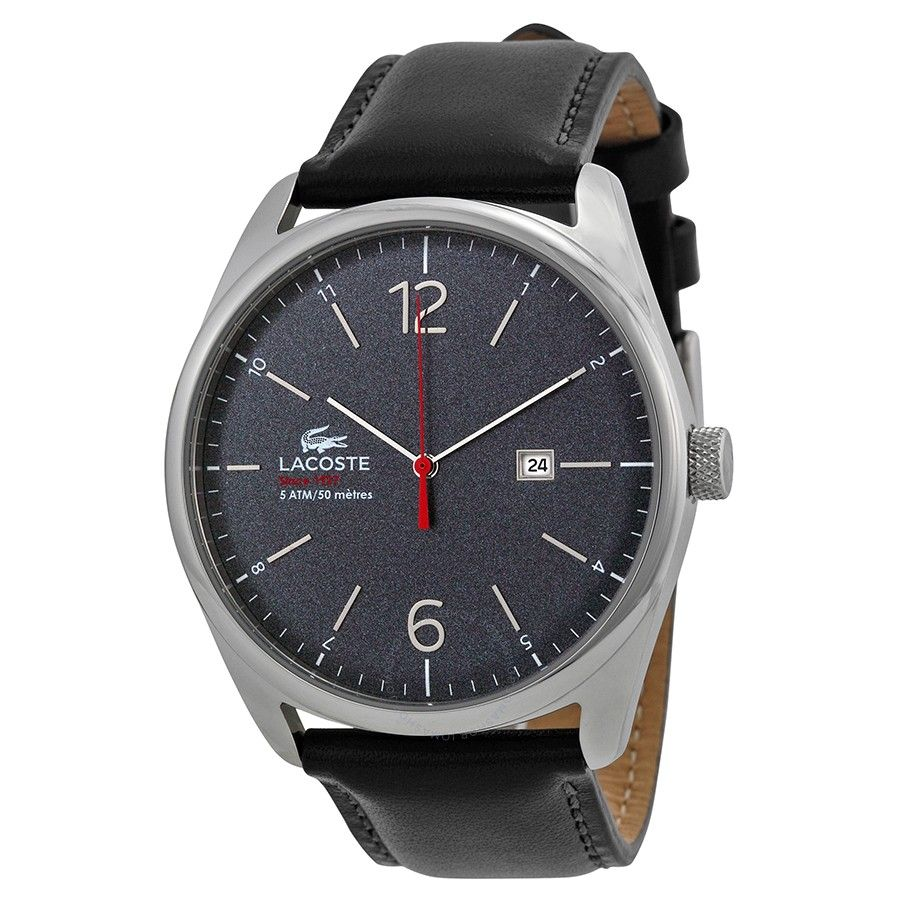 men s watches lacoste 2010694 mens grey dial analog quartz watch lacoste 2010694 mens grey dial analog quartz watch leather strap