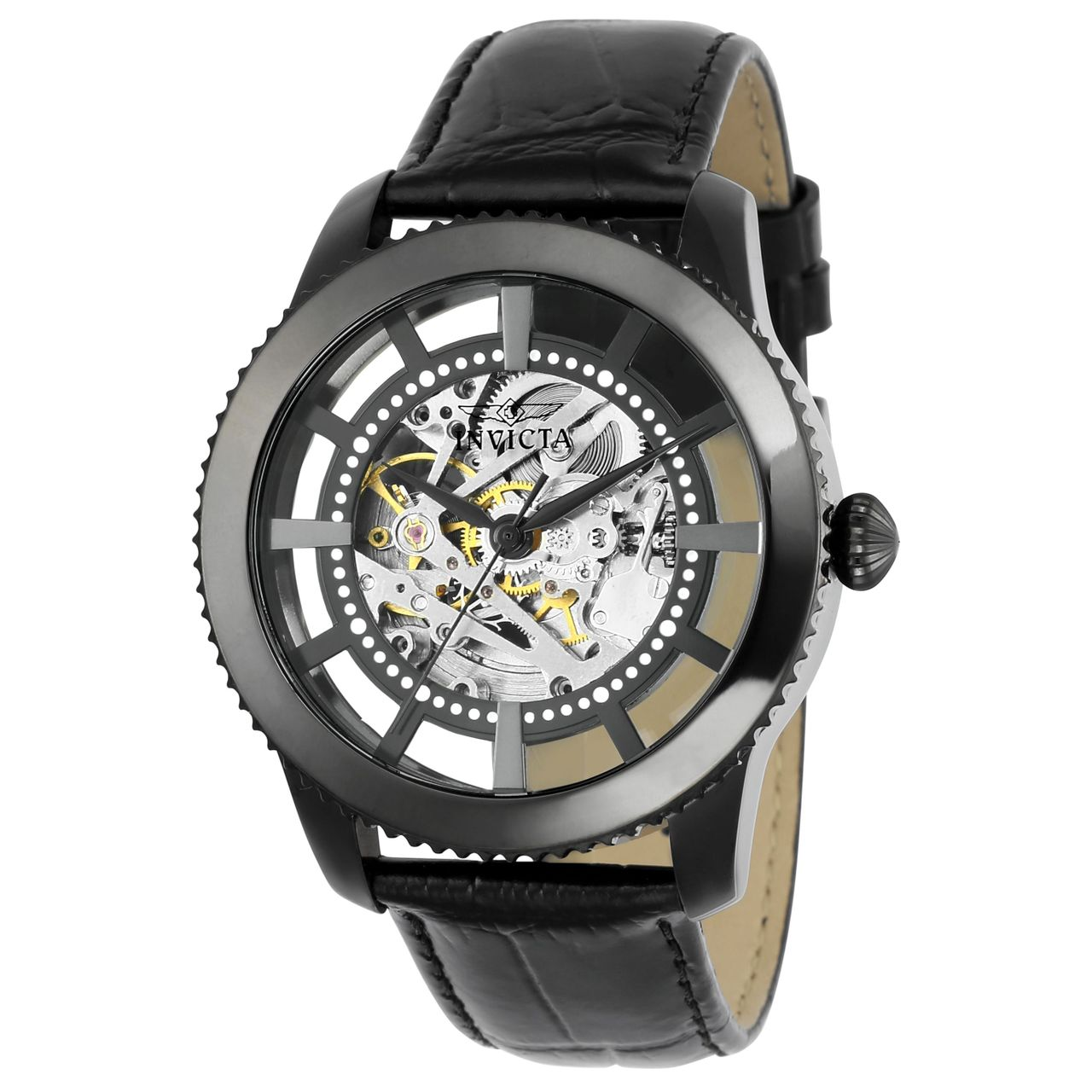 Invicta 22572 Mens Silver Dial Analog Automatic Watch