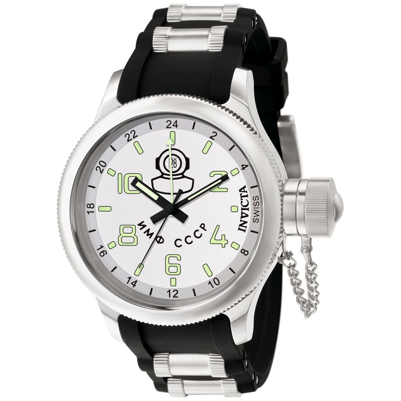 Invicta 7239 Mens Silver Dial Analog Quartz Watch with Stainless Steel Strap