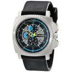 Columbia CA100007 Mens Black Dial Analog Quartz Watch with Silicone Strap
