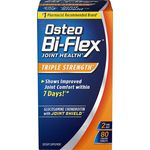 Osteo Bi-Flex Joint Health Triple Strength Glucosamine Chondroitin with Joint Shield, 80 Coated Tablets