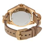 Fossil Riley ES3466 Womens Beige Dial Analog Quartz Watch with Leather Strap
