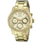Guess U0330L1 Womens Gold Dial Quartz Watch with Stainless Steel Strap