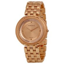 Versace VA7050013 Womens Thea Rose Gold Plated Stainless Steel Analog Watch