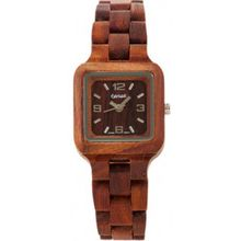 Tense L7305R Womens Summit Wood Case and Bracelet Brown Dial Brown Watch