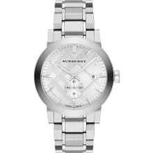 Burberry BU9900 Mens Silver Dial Quartz Watch The City Silver Watch