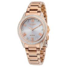 Citizen Pov EM0233-51A Womens White Dial Analog Watch with Stainless Steel Strap