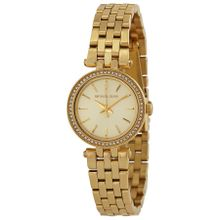Michael Kors MK3295 Womens Champagne Dial Analog Quartz Watch