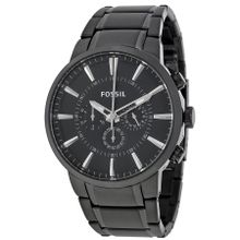 Fossil FS4778 Mens Black Dial Analog Quartz Stainless Steel Watch