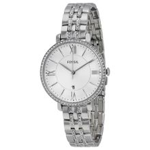 Fossil ES3545 Womens Silver Dial Analog Quartz Watch with Stainless Steel Strap
