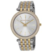 Michael Kors MK3215 Womens Silver Dial Analog Quartz Watch