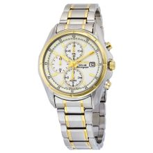 Seiko Seiko 5 SSC002 Mens White Dial Analog Quartz Watch