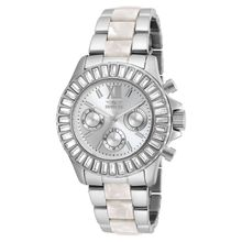 Invicta 18867 Womens Angel Quartz Chronograph Silver Dial Watch