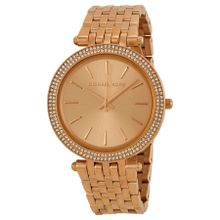 Michael Kors MK3192 Womens Rose Gold Dial Analog Quartz Watch