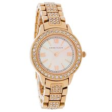 Anne Klein AK/1492MPRG Womens Rose Gold Stainless Steel Analog Quartz Watch