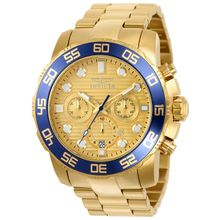 Invicta 22227 Mens Pro Diver Quartz Chronograph Gold Dial Watch