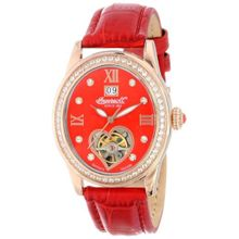 Ingersoll IN5011RRD Womens Red Dial Analog Automatic Watch with Leather Strap