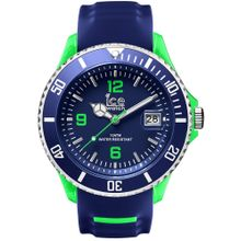 Ice Watch SR.3H.BGN.BB.S.15 Mens Ice Sporty Plastic Case Blue Silicone Strap Blue Dial Two-tone  Watch