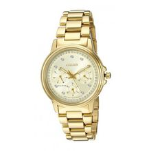 Citizen FD2042-51P Womens Gold Dial Gold Stainless Steel Bracelet Round Analog Watch