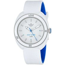 Adidas ADH3123 Unisex Stan Smith White Silicone Strap White Dial Watch
