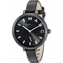 Women's Marc Jacobs Sally Black Leather Strap Watch MJ1417