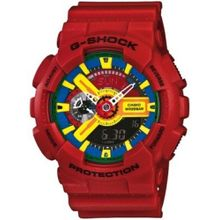 Red Casio G-Shock XL Analog Digital Watch GA110FC-1A