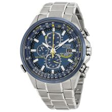 Citizen AT8020-54L Mens Blue Dial Analog Quartz Watch with Stainless Steel Strap