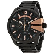 Diesel DZ4309 Mens Black Dial Analog Quartz Watch with Stainless Steel Strap