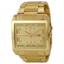 Champagne Dial Gold-plated Men's Watch