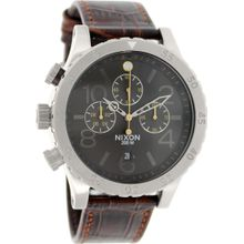Nixon A3631887 Mens Brown Dial Analog Quartz Watch with Leather Strap